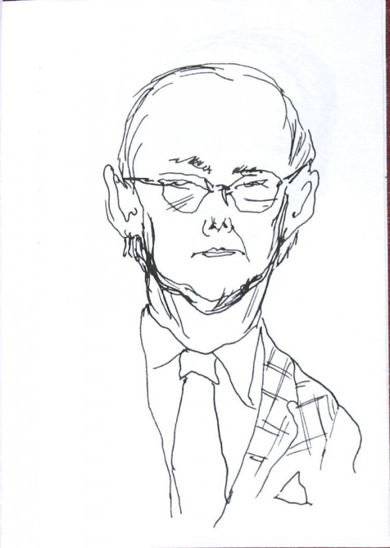Untitled (Portrait), Illustration 44 in the book Sketchbook (Sun Valley, Idaho)