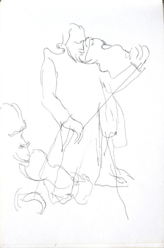 Untitled (Musicians), Illustration 19 in the book Sketchbook (Cheyenne, Wyoming)