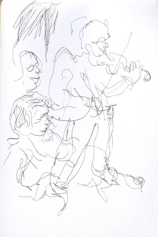 Untitled (Musicians), Illustration 20 in the book Sketchbook (Cheyenne, Wyoming)