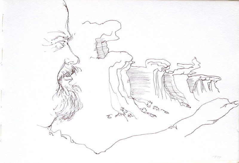 Untitled (Bud driving), Illustration 27 in the book Sketchbook (Cheyenne, Wyoming)