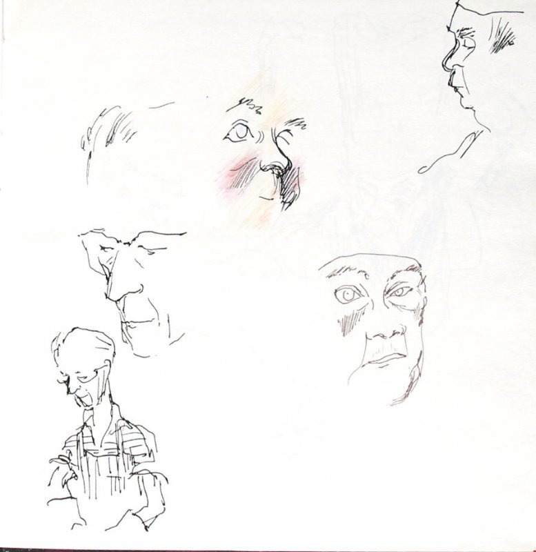 Untitled (Studies), Illustration 2 in the book Sketchbook (St. Helena)