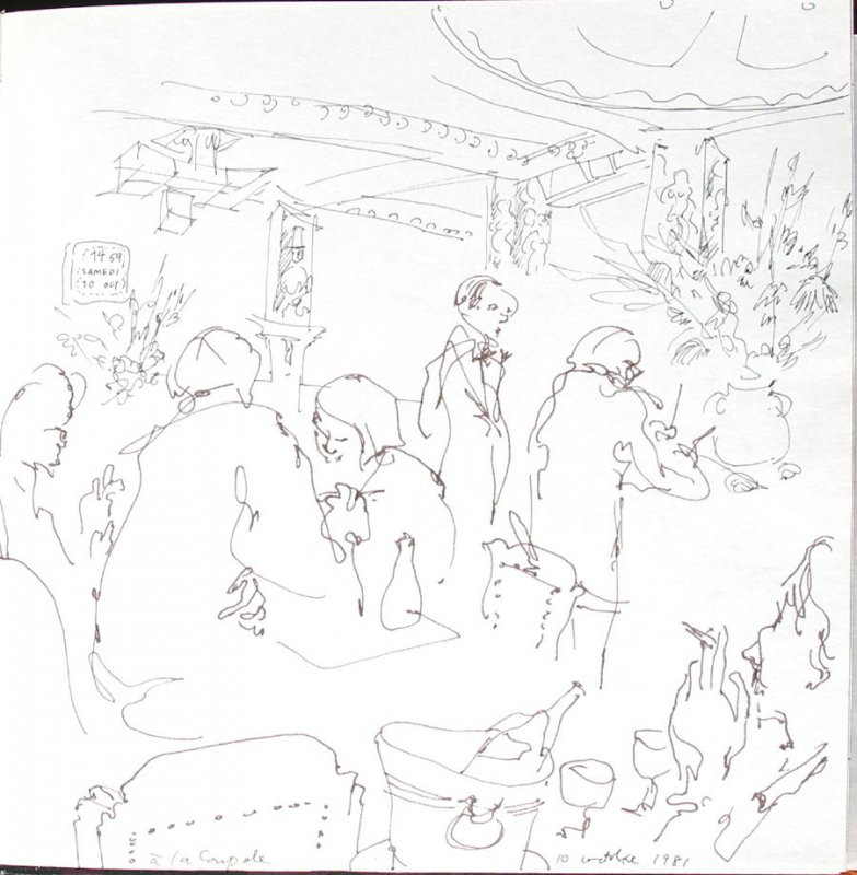 A la Coupole, Illustration 15 in the book Sketchbook (St. Helena)