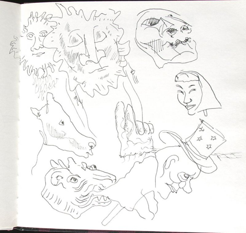 Untitled (Bread and Puppet Theatre), Illustration 39 in the book Sketchbook (St. Helena)