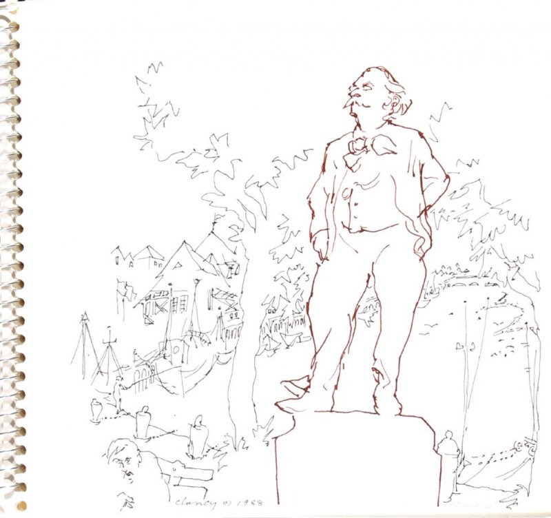 Untitled (Flaubert), Illustration 9 in the book Sketchbook (Trouville, I)