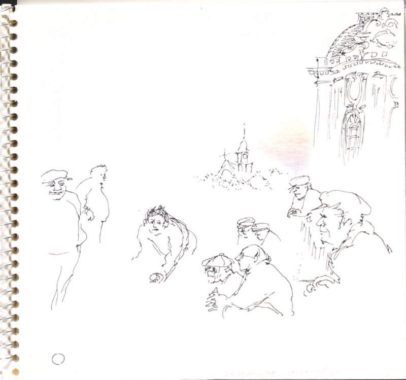 A Coté du Casino, Illustration 14 in the book Sketchbook (Trouville, I)
