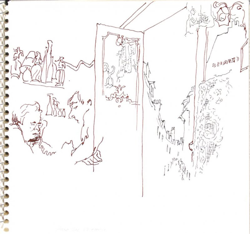 Ascot Bar, Illustration 29 in the book Sketchbook (Trouville, I)