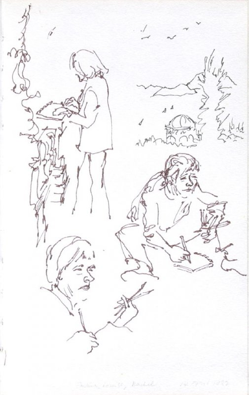 Pauline, Louise, Rachel, Illustration 44 in the book Sketchbook (Portraits)