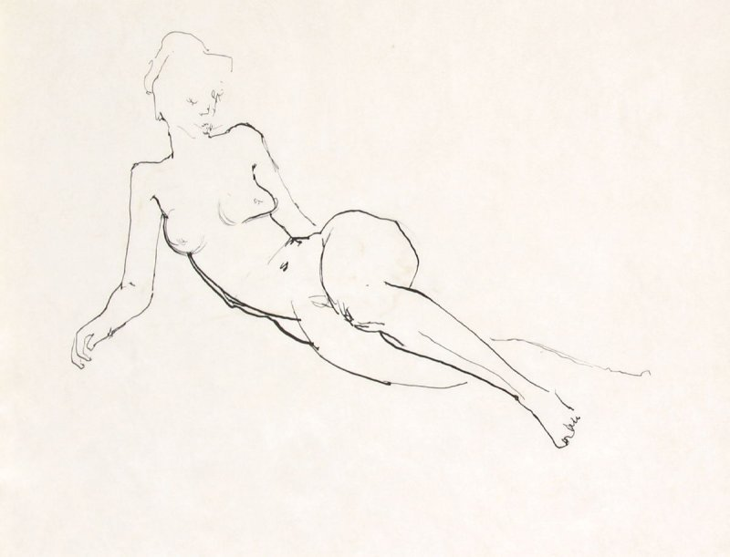 Untitled (Nude), Illustration 5 in the book Sketchbook (Life drawing class)