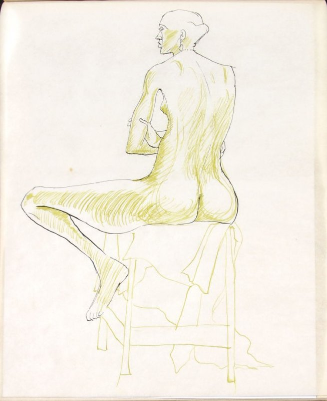 Untitled (Nude), Illustration 28 in the book Sketchbook (Life drawing class)