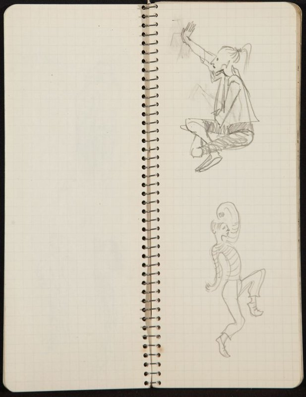 Untitled (Seated woman), Illustration 10 in the book Sketchbook (Ballet, People, Paris)