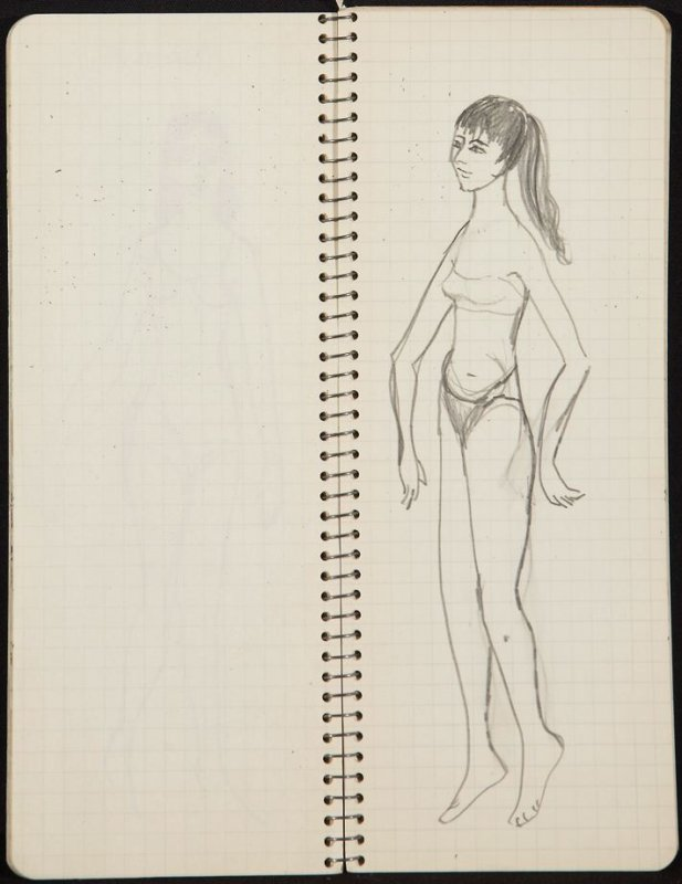 Untitled (Profile), Illustration 24 in the book Sketchbook (Ballet, People, Paris)