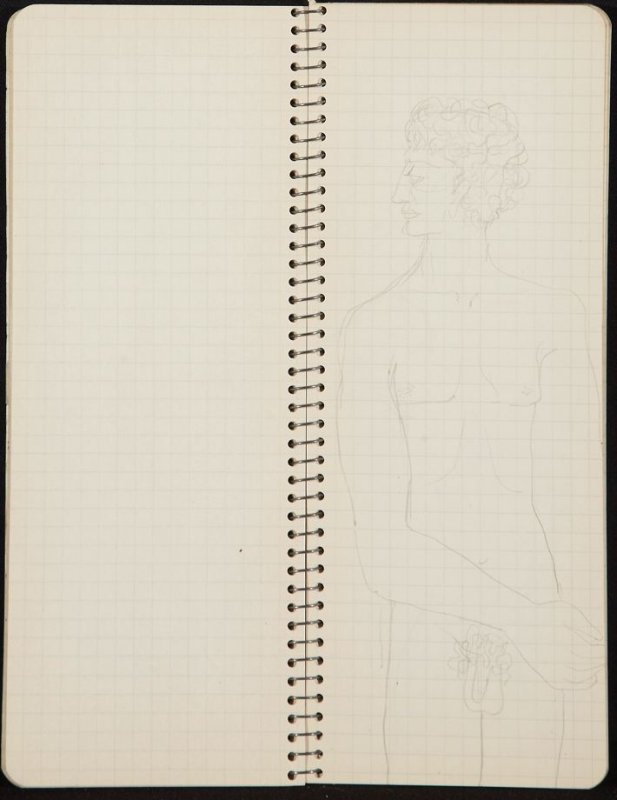 Untitled (Female nude), Illustration 26 in the book Sketchbook (Ballet, People, Paris)