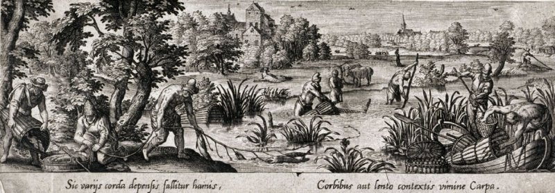 Fishing for Carp, from the series Venationis, piscationis, et aucupii typi (Hunting, Fishing and Fowling Scenes)