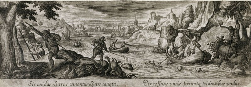 Ootter Hunt, from the series Venationis, piscationis, et aucupii typi (Hunting, Fishing and Fowling Scenes)
