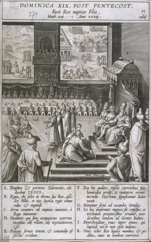 The Parable of the Royal Wedding-Feast, from Evangelicae Historiae Imagines
