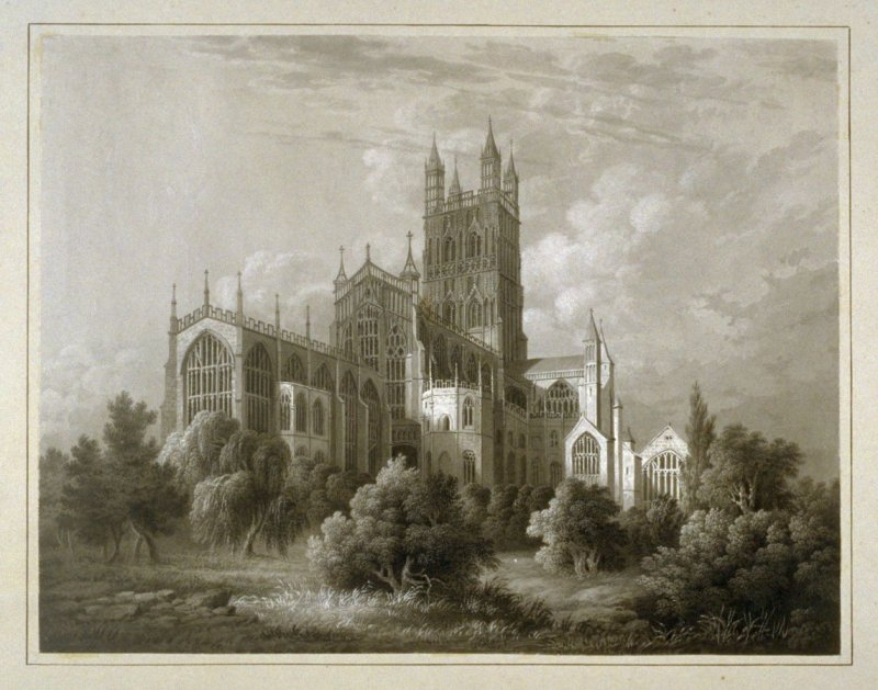 Gloucester Cathedral. NE View