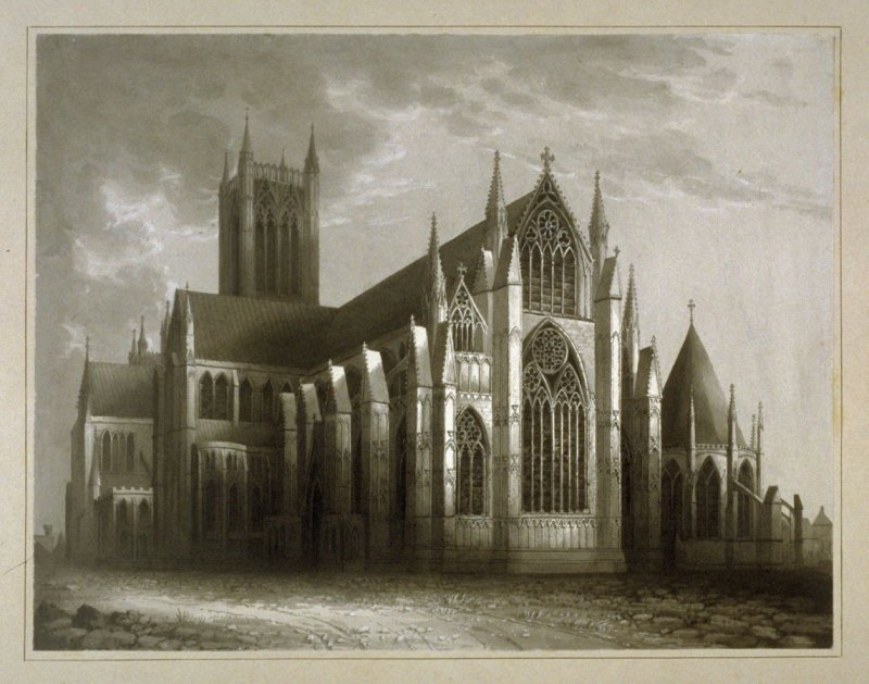 Lincoln Cathedral. SE View