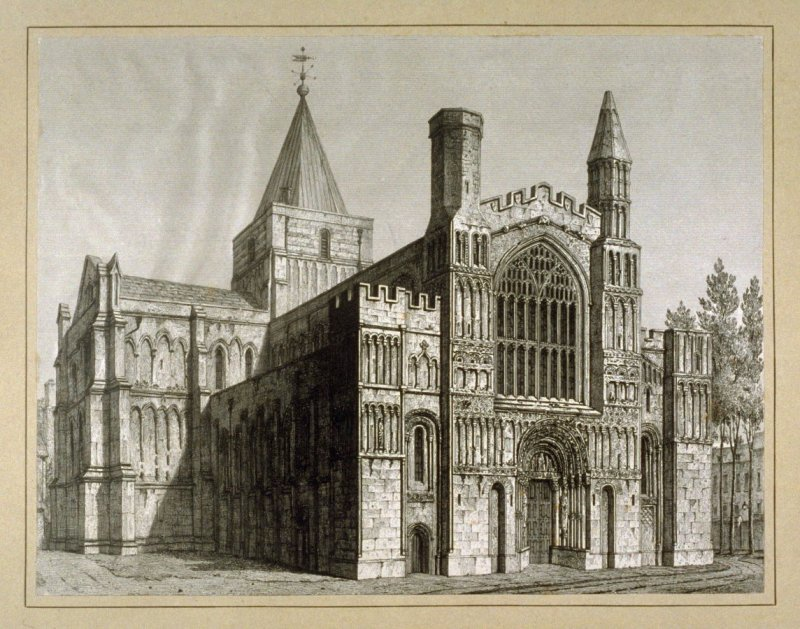 Rochester Cathedral- NW View