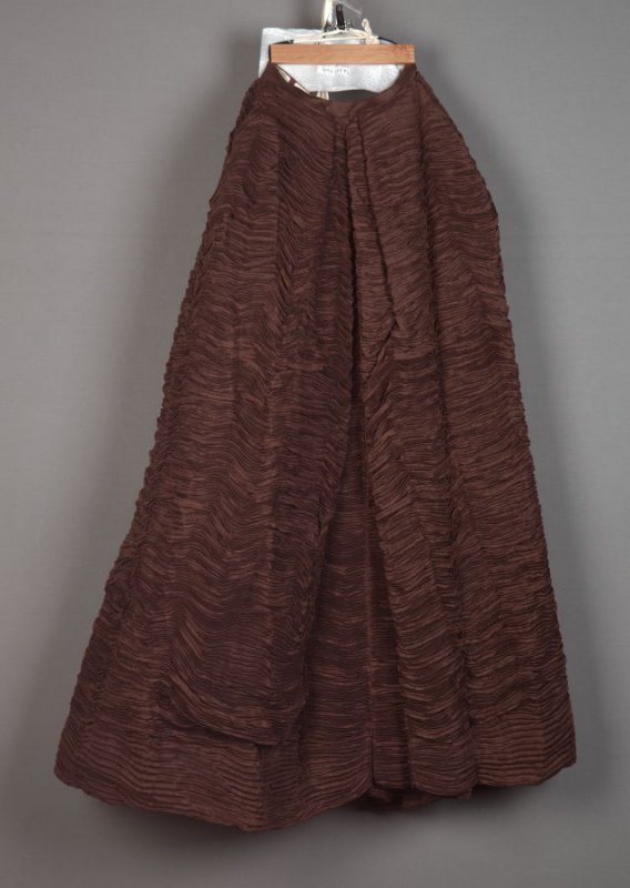 Brown skirt from evening ensemble