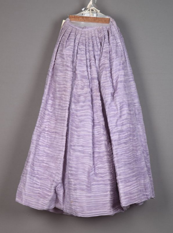 Lavender skirt from evening ensemble