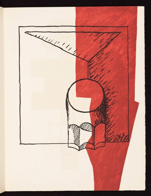 Untitled, pg. 7, in the book Le Poéme de l'angle droit by Edmond Jeanneret (Le Corbusier) (Paris: Tériade Éditeur, 1955)