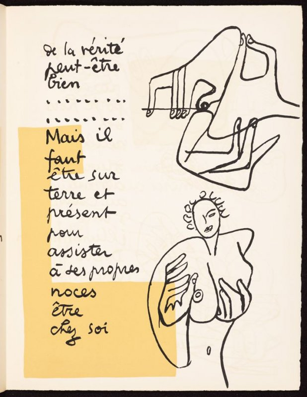 Untitled, pg. 91, in the book Le Poéme de l'angle droit by Edmond Jeanneret (Le Corbusier) (Paris: Tériade Éditeur, 1955)