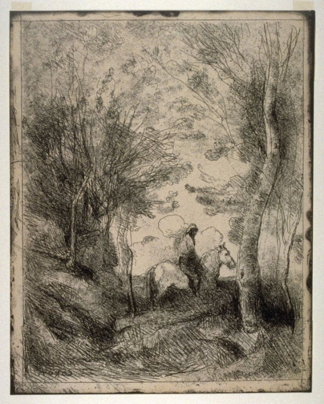 Le Grand Cavalier Sous Bois (Horseman in the Woods, Large Plate)