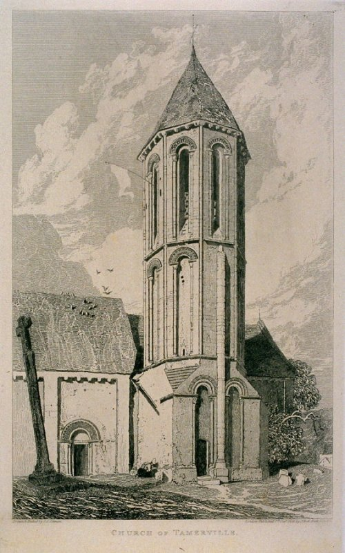 Church of Tamerville, from the series 'Architectural Antiquities of Normandy'