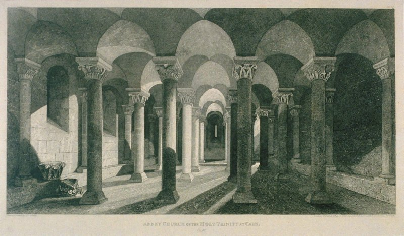 Abbey Church of the Holy Trinity at Caen, from the series 'Architectural Antiquities of Normandy'
