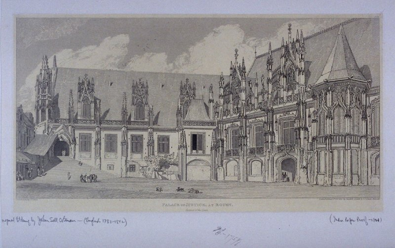 Palace of Justice, at Rouen, from the series 'Architectural Antiquities of Normandy'