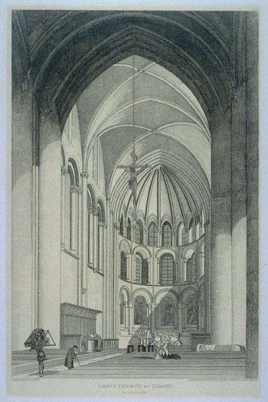 Abbey Church of Cerisy, from the series 'Architectural Antiquities of Normandy'