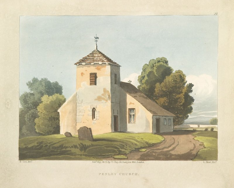 Illustration 14 in the book A Series of Progessive Lessons intended to Elucidate the Art of Landscape Painting (London: T. Clay, 1828)