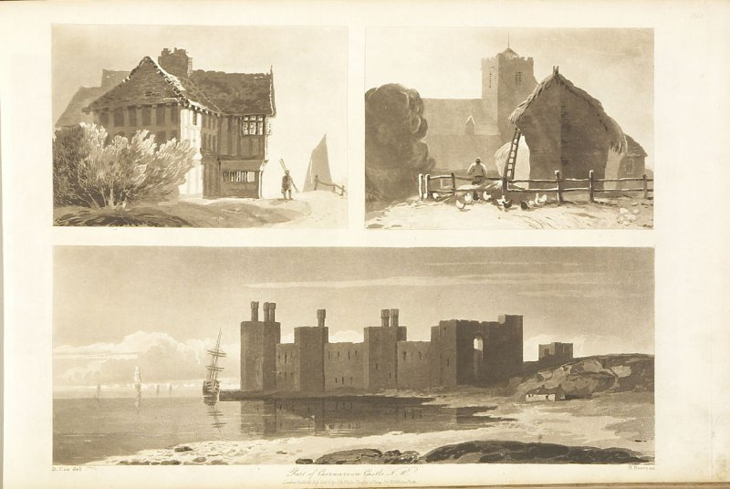 Plate 27 in the book A Treatise on Landscape Painting and Effect in Water Colours…by David Cox (London: S. and J. Fuller, 1814)