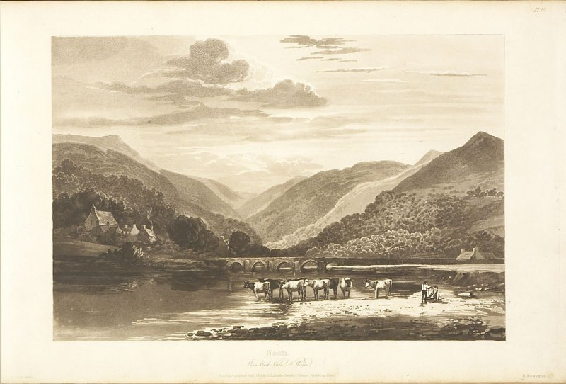 Plate 38 in the book A Treatise on Landscape Painting and Effect in Water Colours…by David Cox (London: S. and J. Fuller, 1814)