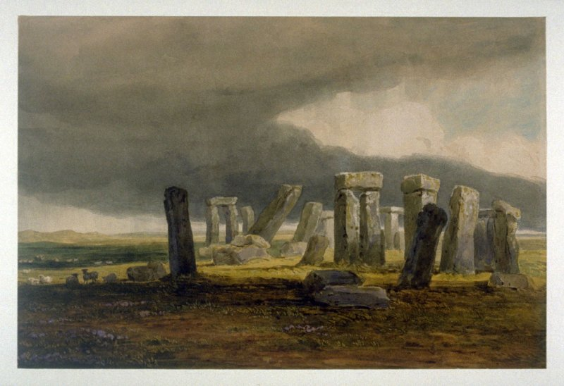 Stonehenge - A Storm Coming On