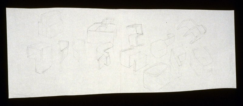 Drawing for Untitled (Numerals #1)