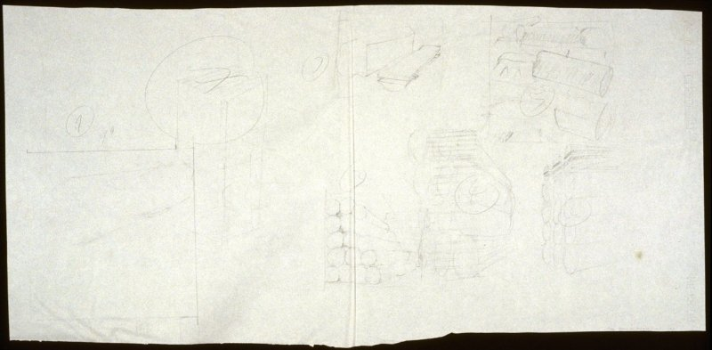 Drawing 1 for Untitled (logs) (Unpublished)