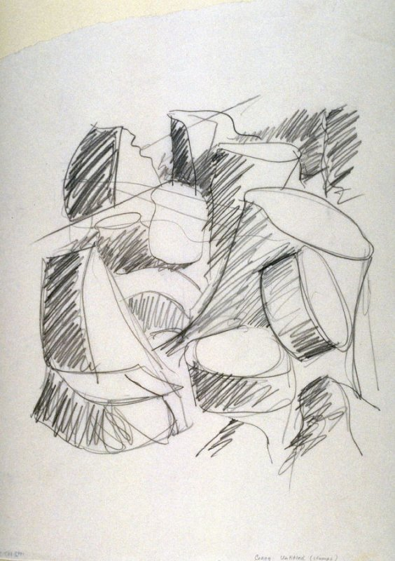 Drawing for Untitled (Stumps) (Unpublished)