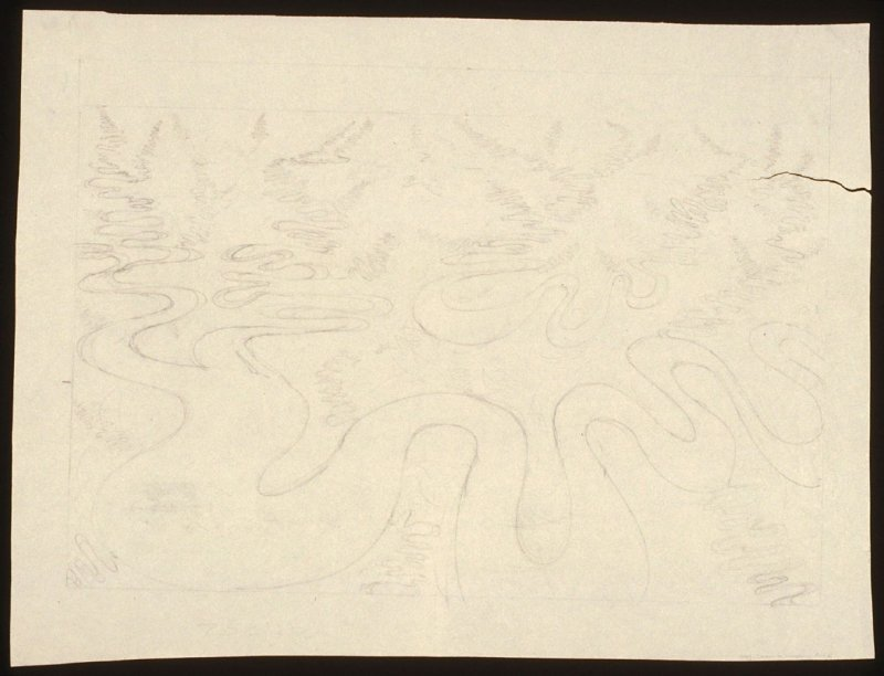 Drawing for Meandering River III