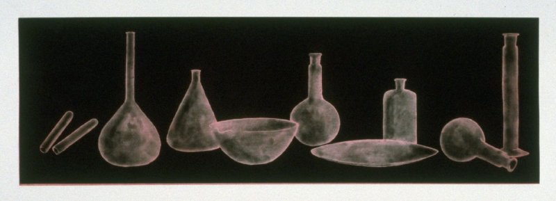 Working proof 2 for Laboratory Still Life No. 2, State 2