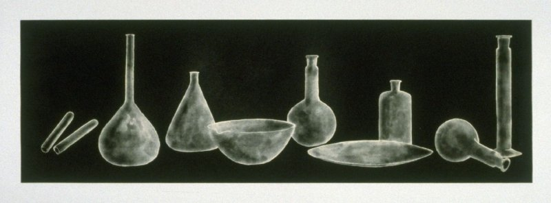 Working proof 1 for Laboratory Still Life No. 2, State 2