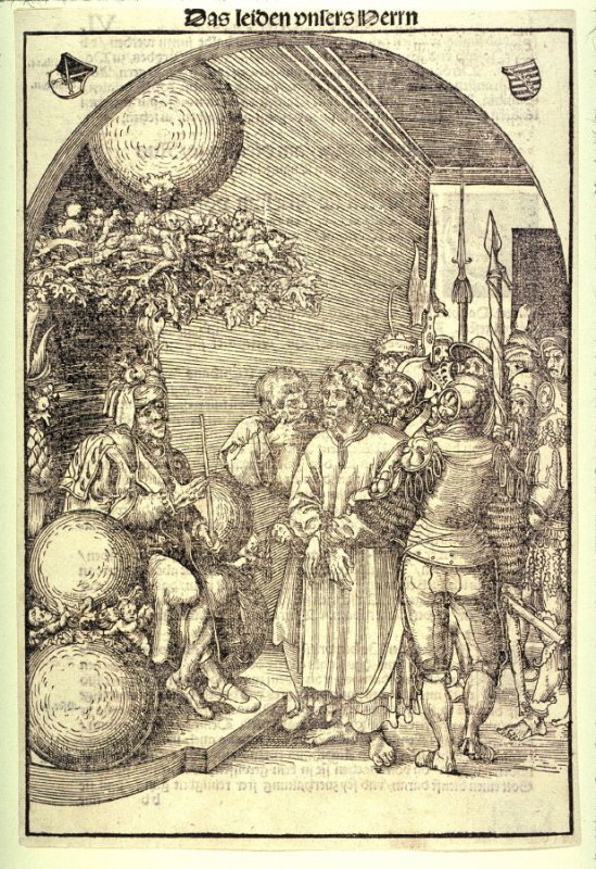 Christ Before Herod, from The Passion; as published in Antonius Corvinus, Die Passion Christi... (Wittenberg: Georg Rhau, 1538)