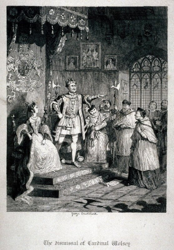 The dismissal of Cardinal Wolsey.