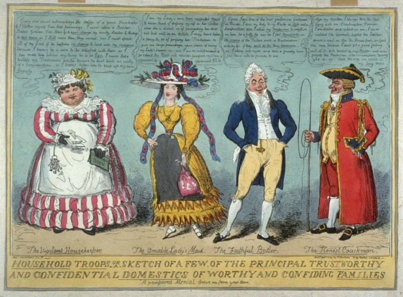 Household Troops, or a Sketch of a few of the Principal Trustworthy and Conidential Domestics of Worthy and Confiding Families