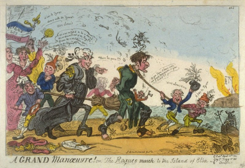 A Grand Manoeuvre! or, the Rogues march to the Island of Elba