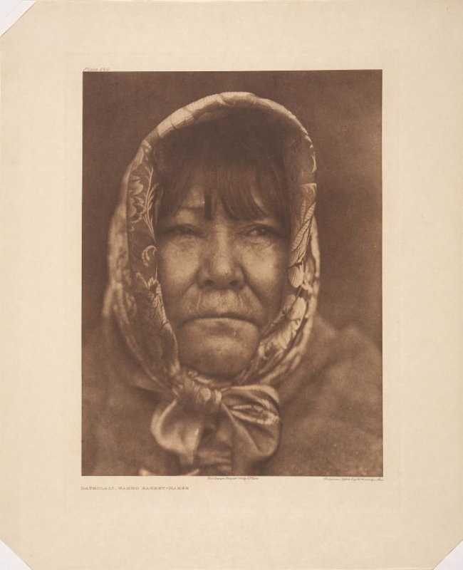 """Plate 540, Datsolali, Washo Basket Maker, from """"The North American Indian"""""""