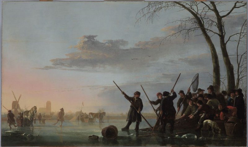 Fishing Under the Ice on the Maas