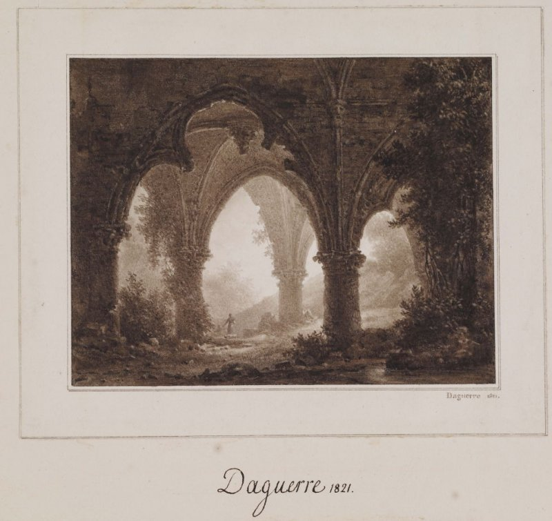 Figure in Gothic Ruins