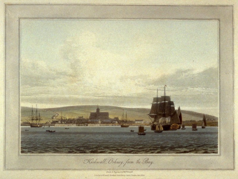 Kirkwall, Orkney, from the Bay