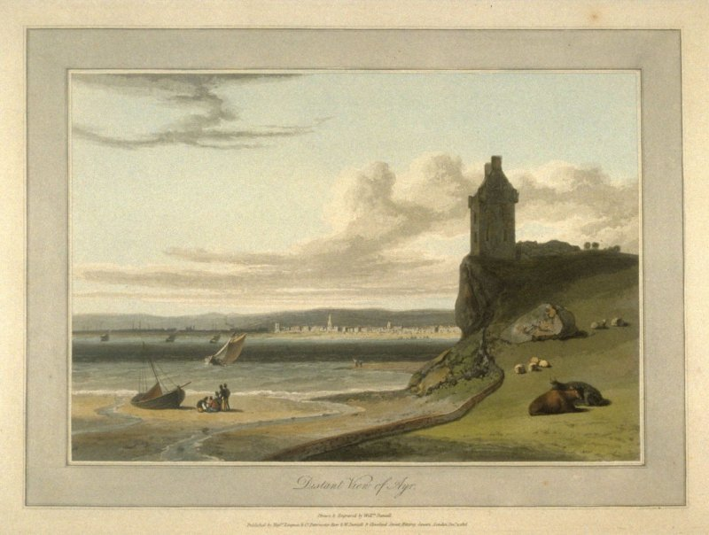 Distant view of Ayr